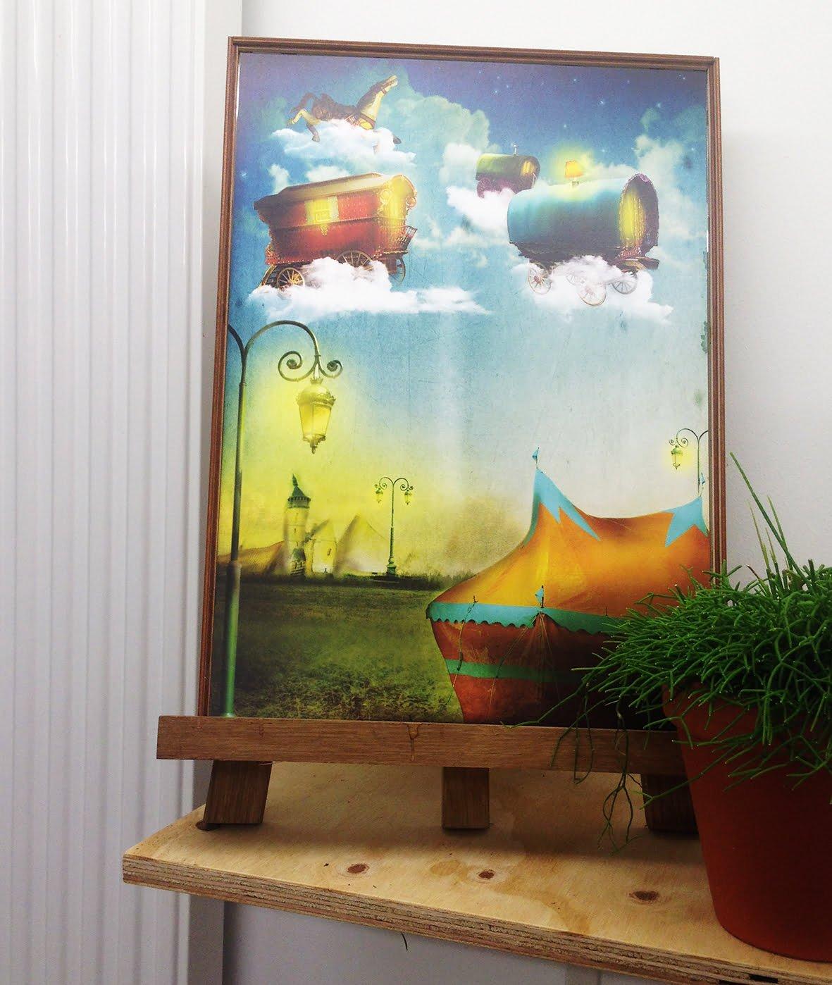 Illustratie Poster Vliegend Cirkus   tekening   sfeervol   sprookje