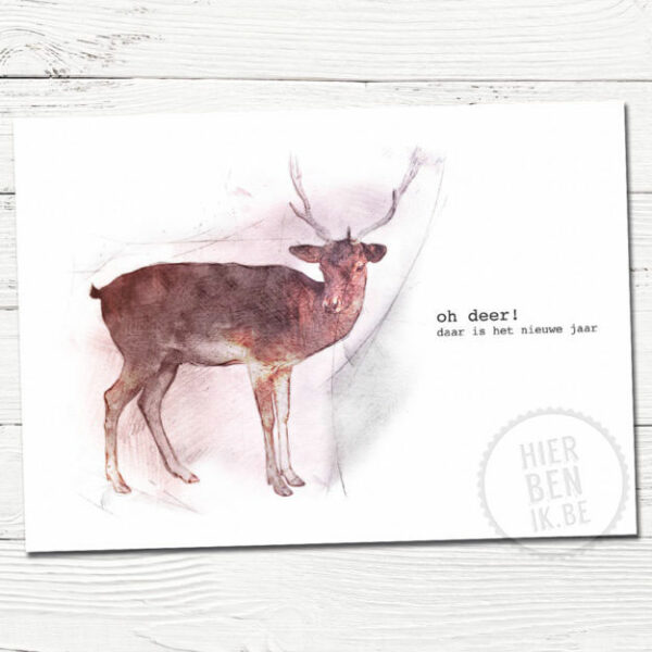 Leuke kerstkaarten | hert | Indie | foto | tekenen | dieren | gezin | grafisch | design | xmas | cards