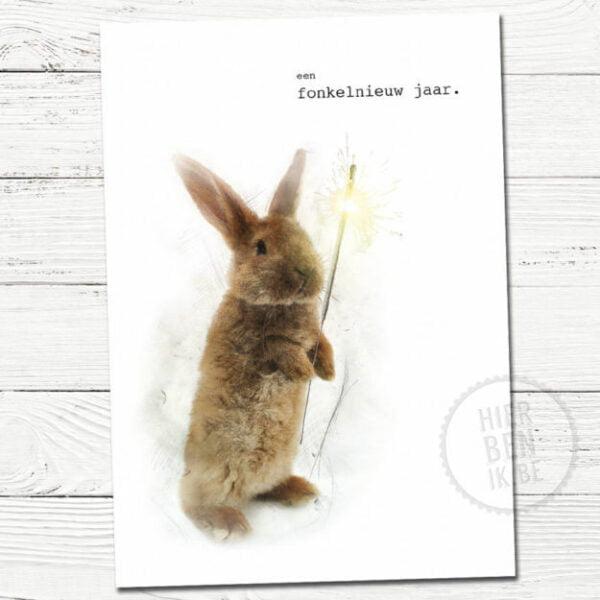 Leuke kerstkaarten | konijn | Indie | foto | tekenen | dieren | gezin | grafisch | design | xmas | cards